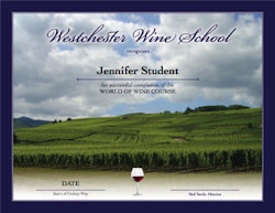 World of Wine Certificate